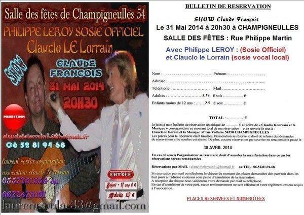 CHAMPIGNEULLES AVEC LE SOSIE CLAUDE FRANCOIS  PHILIPPE LEROY